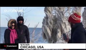 Une vague de froid s'abat sur le lac Michigan