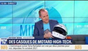 Des casques de motard high-tech