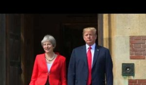 Donald Trump et Theresa May se rencontrent à Chequers