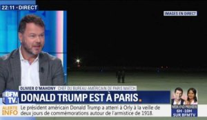 Commémoration du 11 novembre : Donald Trump arrive à Paris (1/3)