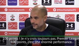 "38e j. - Guardiola : ""100 points, c'est énorme !"""