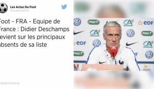 La liste de Didier Deschamps