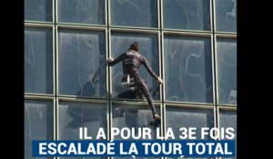 "Le ""Spiderman français"" escalade encore la tour Total à la Défense"