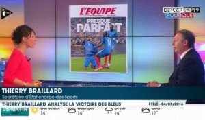 Thierry Braillard analyse le match France-Islande