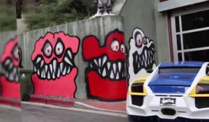 Le graffiti de Chris Brown divise le quartier