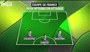 Football / Deschamps hésite entre deux options tactiques - 13/06