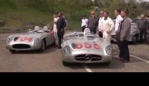 Sir Stirling Moss in the Mercedes-Benz 300 SLR - Mille Miglia track | AutoMotoTV
