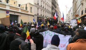 Paris: manifestation des Maliens de France