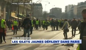Manifestation à Paris : tensions sur le boulevard Saint-Michel