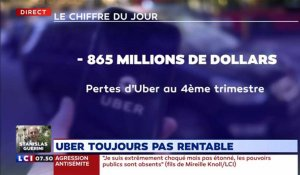 Uber toujours pas rentable