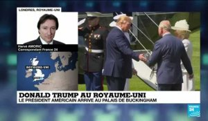 Donald Trump arrive à Buckingam Palace