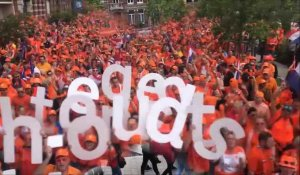 Marche des supporters hollandais à Valenciennes