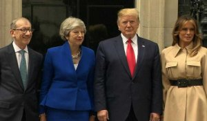 Theresa May accueille Donald Trump à Downing Street