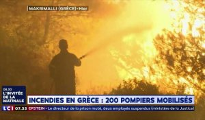 La Grèce frappée par d'importants incendies