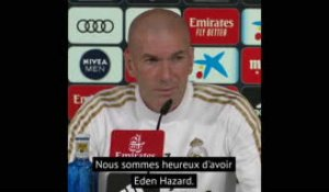 "Real Madrid - Zidane ""tirera le meilleur"" d'Eden Hazard"