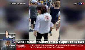 Infox : une manifestation anti-masques en France