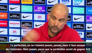 "35e j. - Guardiola : ""La perfection, on ne l'atteint jamais"""