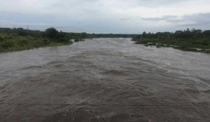 Swollen river in Mozambique after cyclone Kenneth