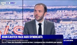 Jean Castex face aux syndicats - 09/07