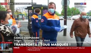 Transports : distribution de masques à Paris