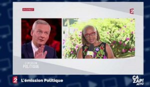 """Pipi de chat"" : une femme s'énerve contre Bruno Le Maire en direct sur France 2"