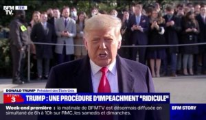 "Story 1 : Donald Trump estime que la procédure d'impeachment est ""ridicule"" - 12/01"