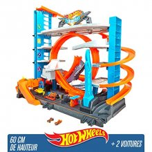 Le coffret de jeu Garage Ultime de Hot Wheels