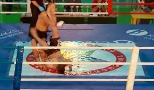 Rolling kick knockout