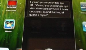 Siri, l'assistant vocal d'Apple, parle ch'ti