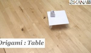 Origami : Comment faire une table en papier ? - HD