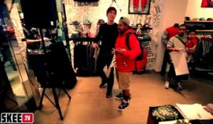 Game Jesus Piece Album In Store Signing W/ DJ Skee At Tradition Streetwear Store In Beverly Center