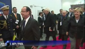 Rencontre Hollande-Merkel au Stade de France