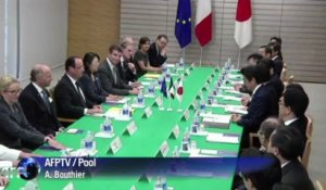 "Hollande inaugure un ""partenariat d'exception"" avec le Japon"
