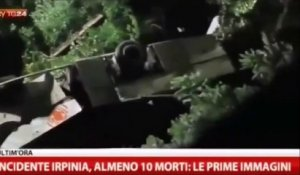 Image de l'accident de bus à Avellino /ITALIE - 38 morts