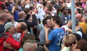 Manifestation contre la loi russe anti-gay à Anvers