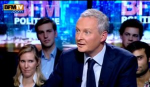 BFM Politique: l'interview de Bruno Le Maire par Anne Cabana du journaliste du Point - 15/09