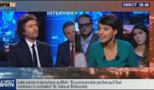 BFM Politique: L'interview de Najat Vallaud-Belkacem par Christophe Ono-dit-Biot du Point - 03/11
