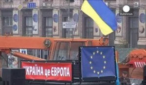 Ukraine : nouvelle manifestation contre l'abandon de l'accord avec l'UE