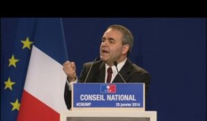 Conseil National - Xavier Bertrand