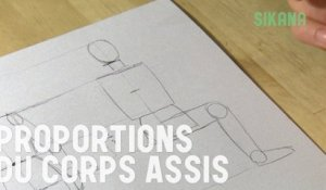 Proportion du corps assis