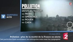 Pollution : plus de la moitié de la France en alerte