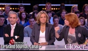 "Véronique Genest au ""Grand Journal"" de Canal + le 13 novembre 2013"