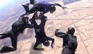 Relative Work Skydiving 4way Training with Team Warp Factor