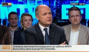 BFM Politique: L'interview de Bruno Le Roux par Apolline de Malherbe - 04/05 1/7