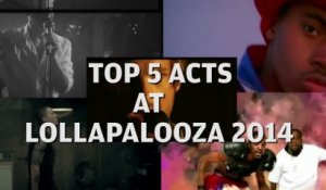 Top 5 Acts at Lollapalooza 2014