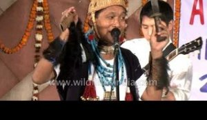 Arunachali shaman performs in full regalia!