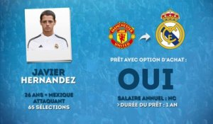 Officiel : Javier Hernandez prêté au Real Madrid !