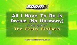 Zoom Karaoke - All I Have To Do Is Dream (No Harmony) - The Everly Brothers