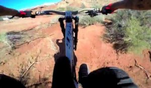 GoPro embraquée : descente MTB Red Bull Rampage - Andreu Lacondeguys