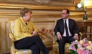 Le couple Hollande-Merkel au beau fixe